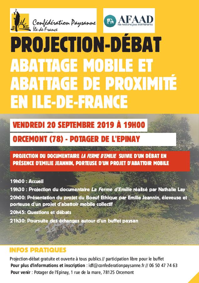 La ferme d'Emilie projection débat Yvelines