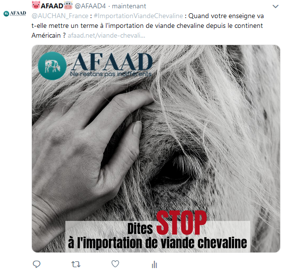 Viande chevaline tweet AFAAD